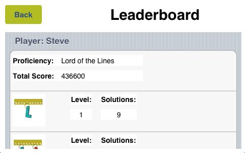 iPhone leader board